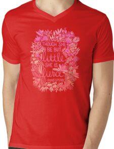 Little & Fierce – Pink Ombré Mens V-Neck T-Shirt
