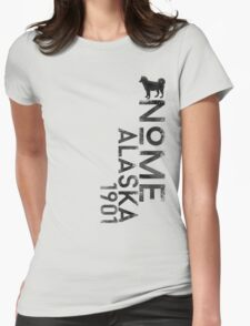 Nome, Alaska (Dark Silhouette Version) Womens Fitted T-Shirt