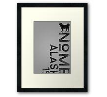 Nome, Alaska (Dark Silhouette Version) Framed Print