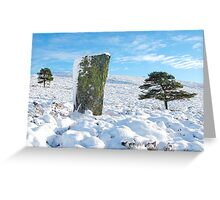 Luath's Stone in Winter Greeting Card