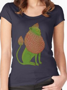 Asparagus Lion, King of the Vegetables Women's Fitted Scoop T-Shirt