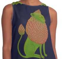 Asparagus Lion, King of the Vegetables Contrast Tank