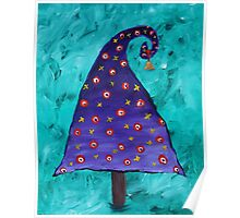 Totally Jolly Purple Christmas Tree Poster