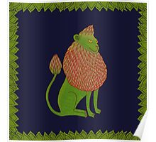 Asparagus Lion, King of the Vegetables Poster