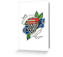 Tattoo style engine Greeting Card