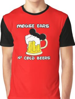 Mouse Ears N' Cold Beers Graphic T-Shirt