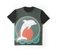 Dolphin Moonlight Red Graphic T-Shirt