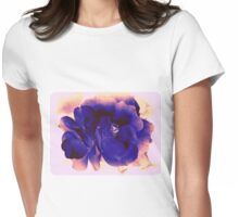 Vintage Rose in Ink and Tea Womens Fitted T-Shirt