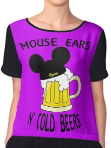 Mouse Ears N' Cold Beers (Epcot version) Chiffon Top
