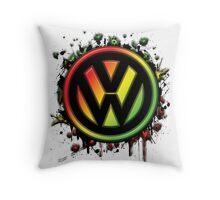 Reggae Volkswagen Throw Pillow