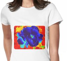 Cool Rose in Fire Womens Fitted T-Shirt