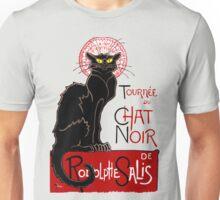 Vintage Black Cat Le Chat Noir Unisex T-Shirt