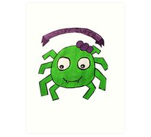 Creepy Cutie Spider  Art Print