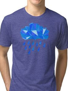 Blue Crystal Rain Tri-blend T-Shirt