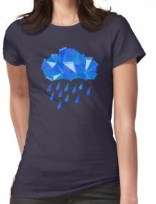 Blue Crystal Rain Womens Fitted T-Shirt