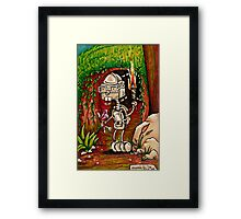 Geeky Robo Adventure (Inktober) Framed Print