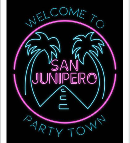 Party Town Sticker