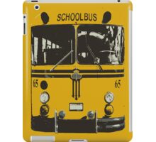 Yellow School Bus iPad Case/Skin