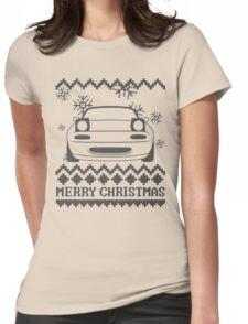 Merry Christmas miata - 2 Womens Fitted T-Shirt