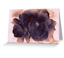 Carbon Ink Rose Greeting Card