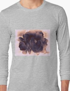 Carbon Ink Rose Long Sleeve T-Shirt