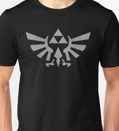 °GEEK° Triforce Grey Denim Logo Unisex T-Shirt