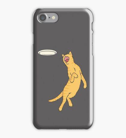 Frisbee Cat iPhone Case/Skin