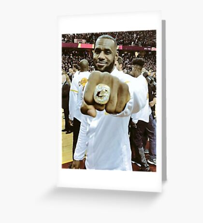 The King and His Ring Greeting Card