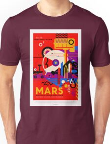 Vintage Mars Historic Sites Space Travel Unisex T-Shirt