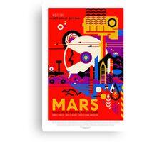 Vintage Mars Historic Sites Space Travel Canvas Print