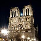 Notre Dame de Paris - Moon Rising by agu-photos