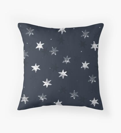 Stamped Star Throw Pillow