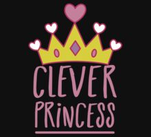 Clever princess with royal crown Kids Tee