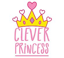 Clever princess with royal crown Photographic Print