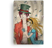 Alice and His Hatter Canvas Print