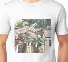 Passing by Cherry Blossoms Unisex T-Shirt