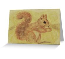 Squirrel in the Autumn Forest Greeting Card