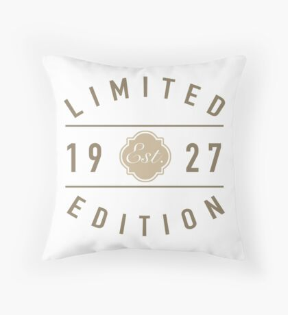 1927 Limited Edition Throw Pillow