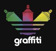 Graffiti Spray Can Art Kids Tee
