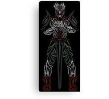 The undead knight Canvas Print