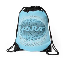 I'm Not Addicted to Yarn Drawstring Bag
