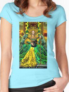 Queen of Wands Women's Fitted Scoop T-Shirt