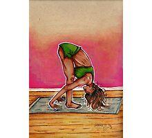Inktober Yoga Woman Photographic Print