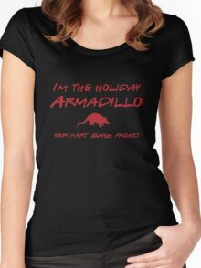 Friends - I'm the holiday Armadillo Women's Fitted Scoop T-Shirt