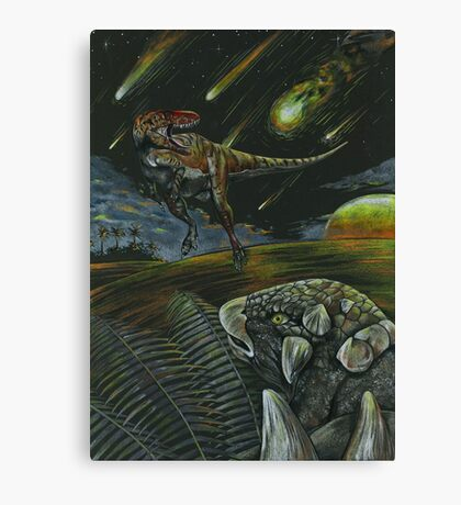 Dooms day and Dinos  Canvas Print
