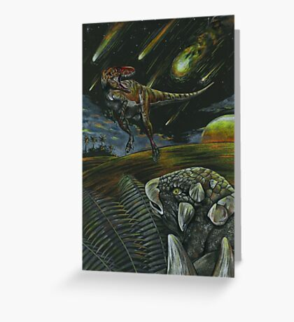 Dooms day and Dinos  Greeting Card