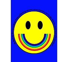 Rainbow Smiley Face Photographic Print