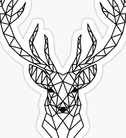 Geometric deer head Sticker