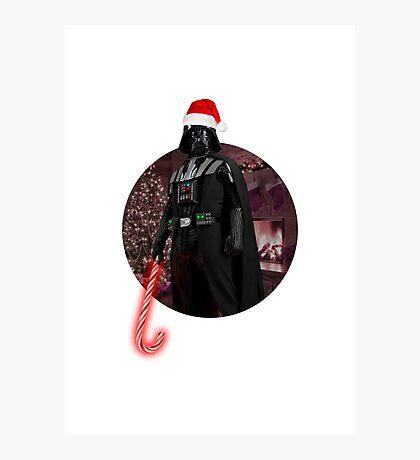 Vader Christmas Photographic Print