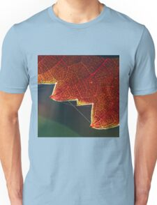 Autumn Grape Leaf Macro Unisex T-Shirt